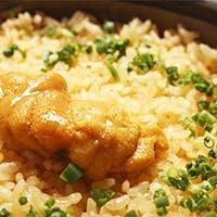 雲丹の炊き込み土鍋御飯