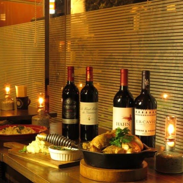 アメリカワイン、ワインカクテルなどドリンクとのペアリングを意識したメニュー