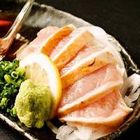 鳥取県の銘柄鶏「大山軍鶏」の炭火焼