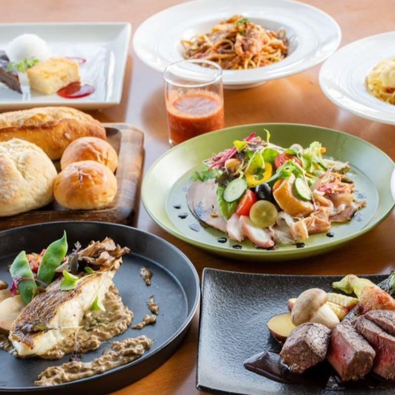 【ランチブッフェ】農園野菜とパスタ、サラダ、デザート、ドリンクワイン含む70分食べ飲み放題(土日祝)