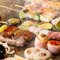 ワインとともに味わう大阪伝統の味わい「串焼き」を
