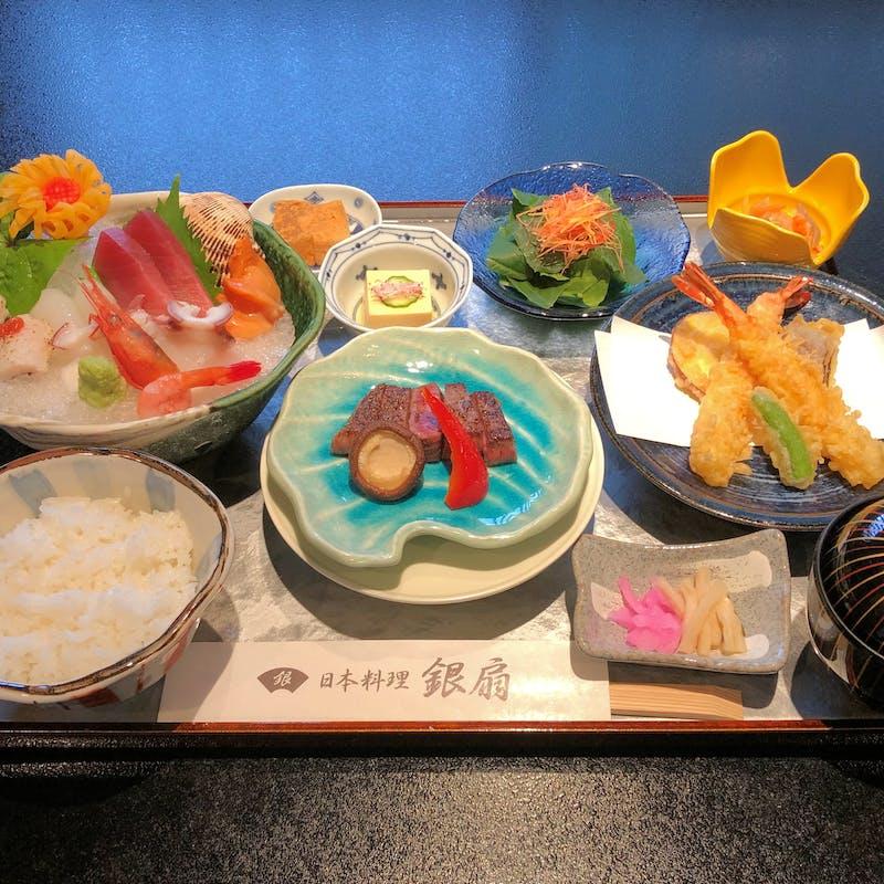 【和華御膳】ステーキ・お刺身・天ぷらなど+食後のコーヒー
