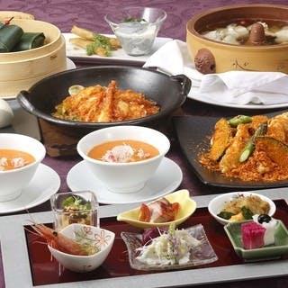 旬の食材を活かした中華コースが充実