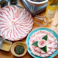 本場沖縄のあぐー豚の持つ極上の味わいをシンプルな「しゃぶしゃぶ」で