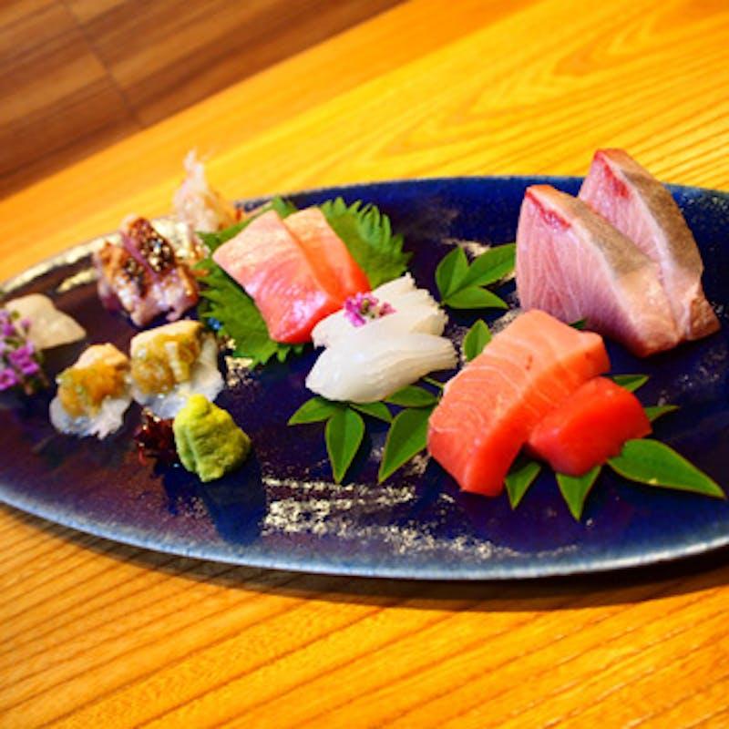 【桐コース】先附け、造里、八寸、焼き魚など厳選食材を使用した全8品