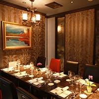 最大10名様迄対応の完全個室を完備 接待・ご会食にふさわしいシックな空間