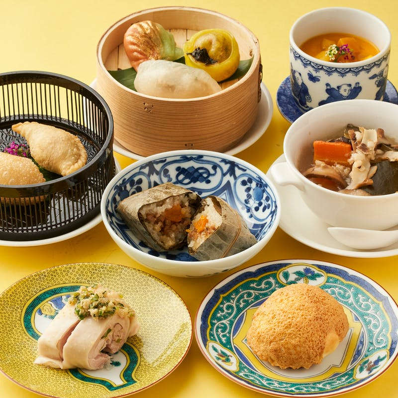 【飲茶コース】香港薬膳炊き込みスープ、シェフのおすすめ点心を中心としたコース全7品