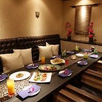 バリ島リゾートがコンセプト 様々なシーンに合わせた個室やVIPルームもご用意