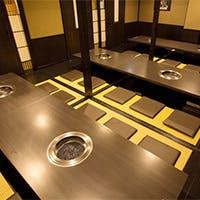 全席個室・無煙ロースター完備・VIPルーム完備