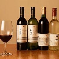 日本酒にあう一品、ワインにあうお料理と四季を感じながらお召し上がりください