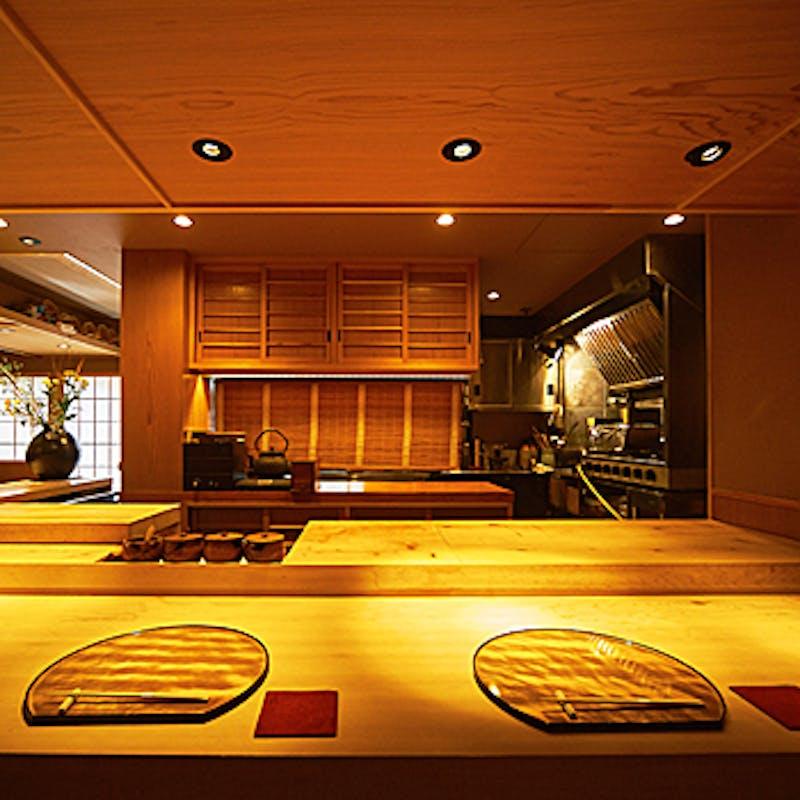 【寿司と天麩羅懐石 輝コース】焼き八寸盛、天麩羅、寿司な全7品