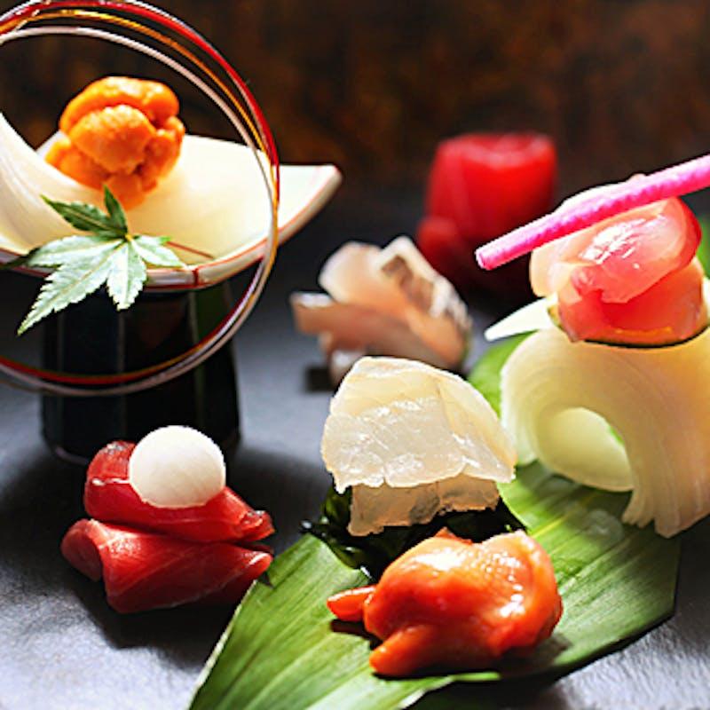 【握り6000円コース】お造り、焼き八寸盛、寿司など全5品