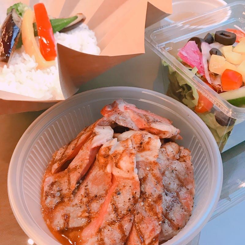 【サーロインステーキ丼】(テイクアウト専用プラン)