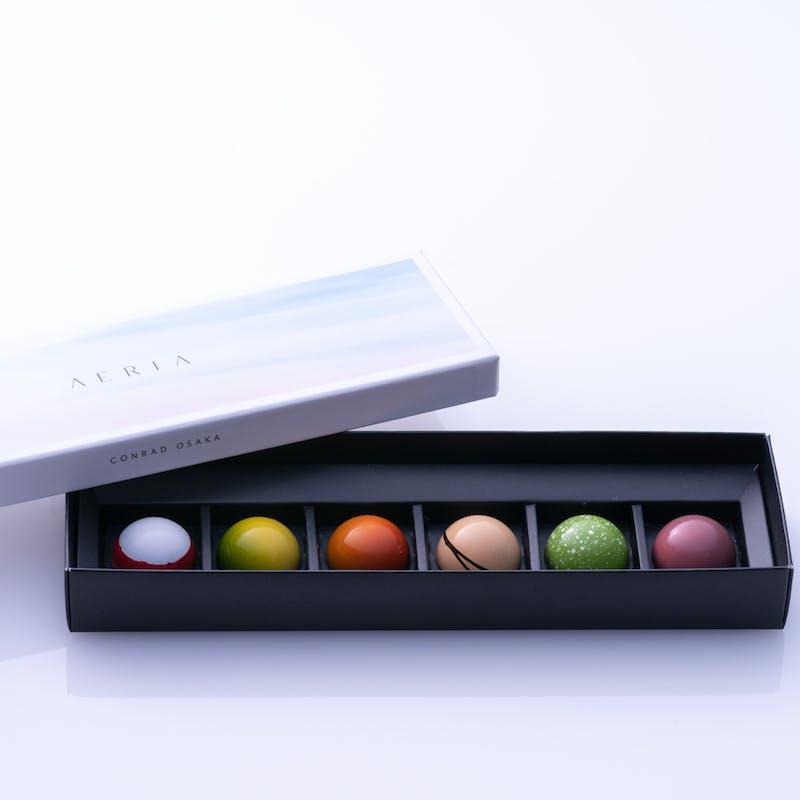 「AERIA」チョコレートボックス(6個入り・テイクアウト)