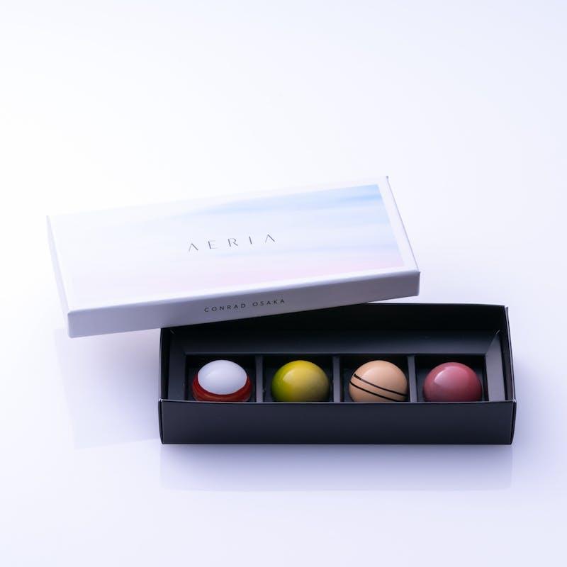 「AERIA」チョコレートボックス(4個入り・テイクアウト)