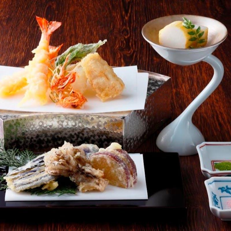 【天ぷらコース:錦】季節の天ぷらなど全6品+1ドリンク