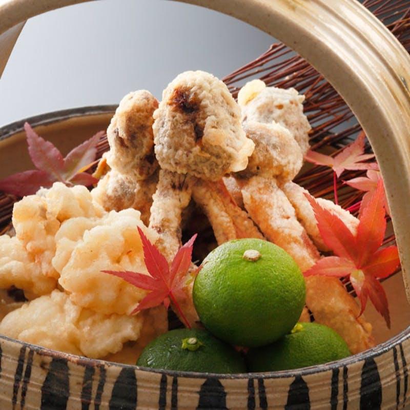 【天ぷらコース:清水】造里、天ぷらなど全7品+1ドリンク