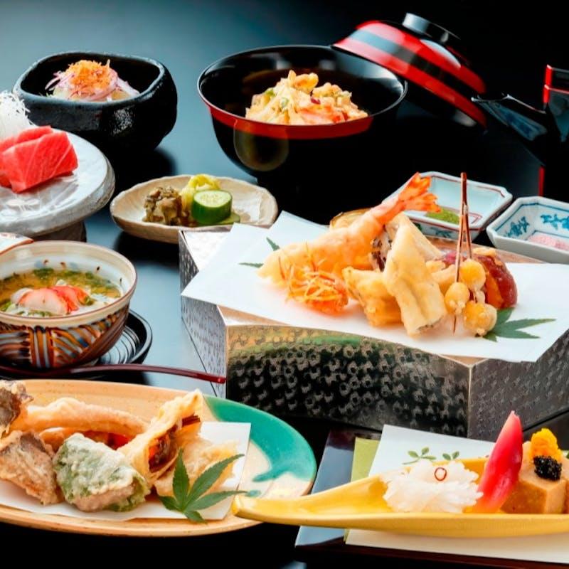 【天ぷらコース:友禅】造里、天ぷらなど全6品+1ドリンク