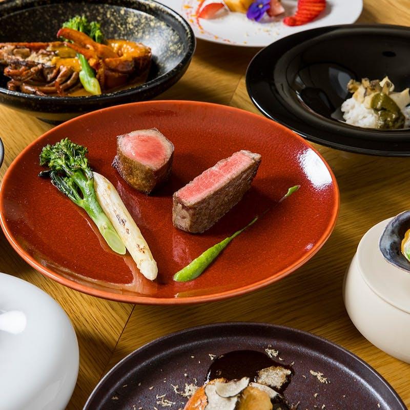 【Chef Simotai シグネチャーコース】飛騨牛タン&シャトーブリアンの炭火焼ステーキなど全8品