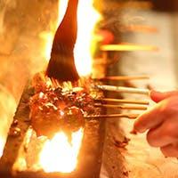 素材に合わせた繊細な火入れの焼き立て串をお愉しみください