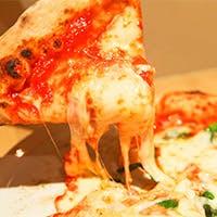 石窯で焼き上げた本格ピッツァの豊かな香りと食感をお愉しみください