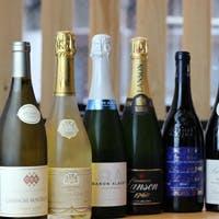種類豊富に取り揃えたワインの数々