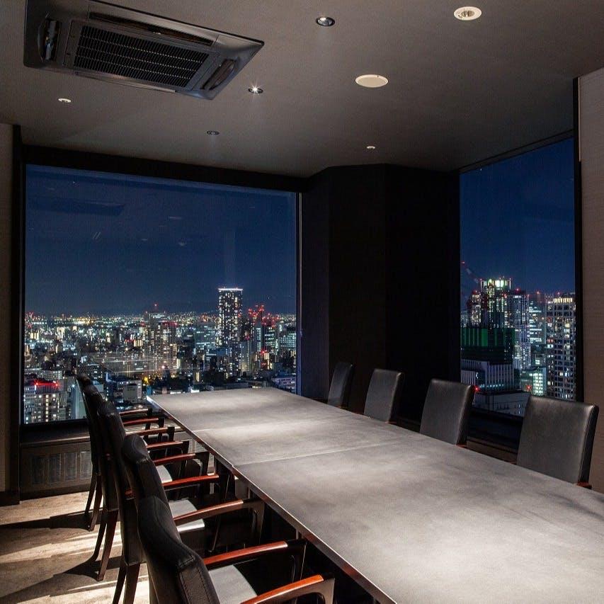 高層ビル31階からの大阪の夜景をお愉しみください