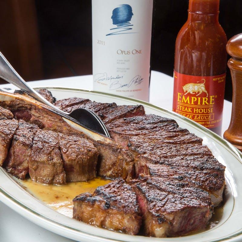 【ポーターハウスステーキコース】全5品+泡・白・赤のペアリング3杯
