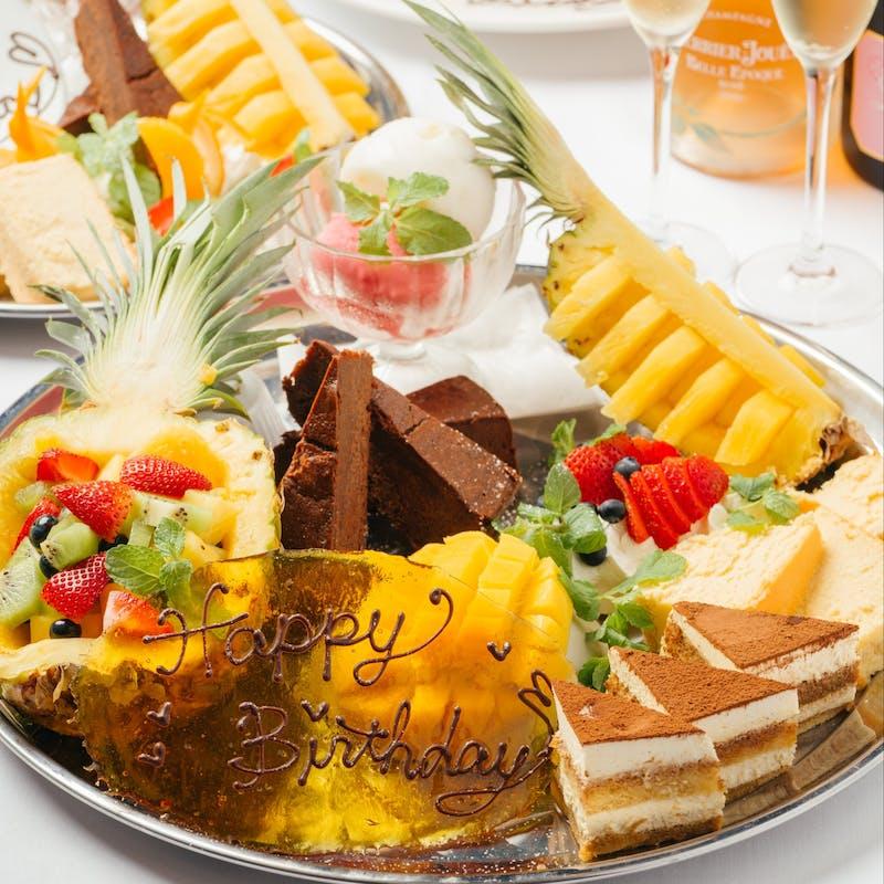 【エンペラーステーキコース】全5品+乾杯シャンパン+デザートプレート
