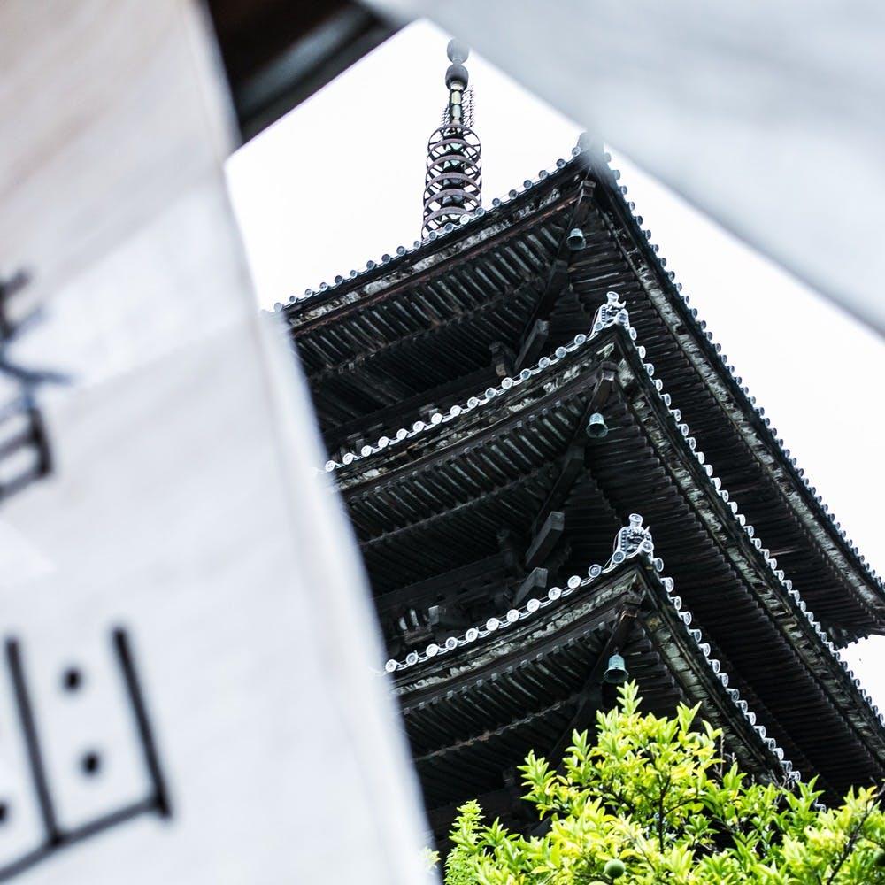 日本最古の五重塔を間近に見る絶好のロケーション