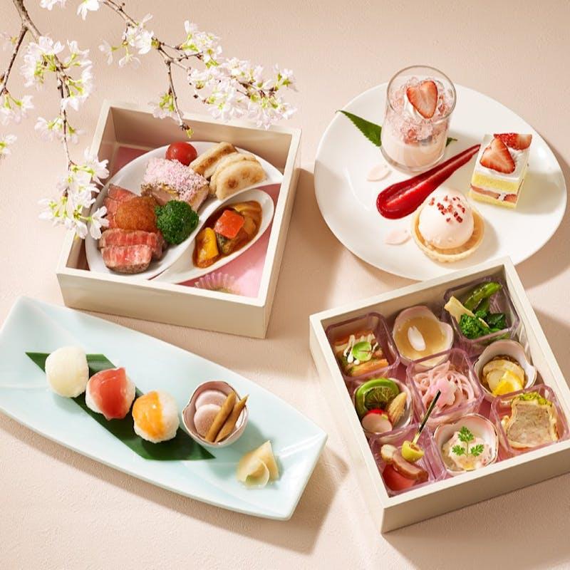 桜小箱【SAKURA】乾杯ロゼスパークリングワイン付き(桜が見える席確約)