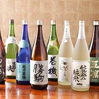 圧倒的な品揃えの日本酒を、最高級の「錫(すず)」で味わう