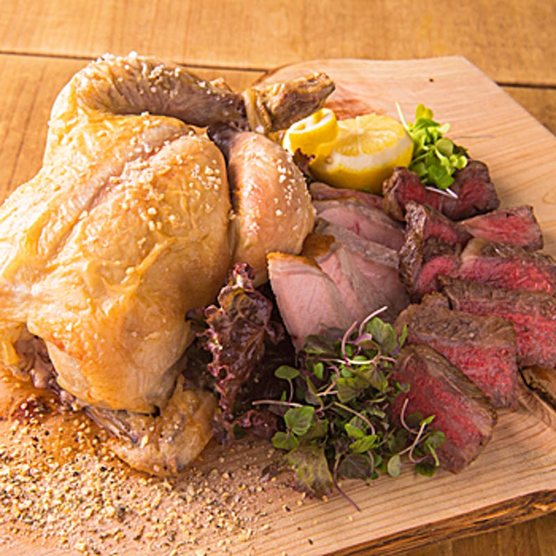 【カジュアルコース】ソフトドリンク飲み放題付 大山鶏 イベリコ豚など全9品
