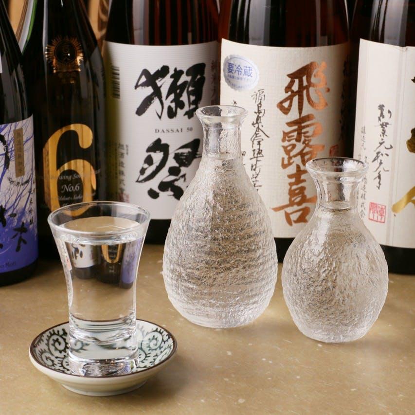新酒も続々と入荷中!日本酒は銀座で屈指の品揃え