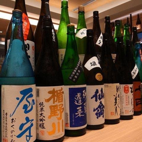 全国47都道府県の日本酒や焼酎が充実