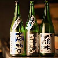 本格寿司とともにこだわりの日本酒を