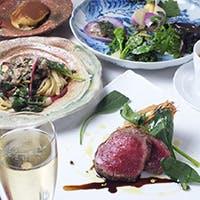 日本各地の旬の食材を炭火と和食器で表現する絶品イタリアン