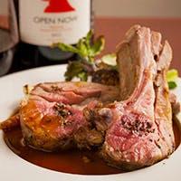 肉好きなお客様も満足いただけるフレンチの醍醐味、ローストなど充実の肉料理