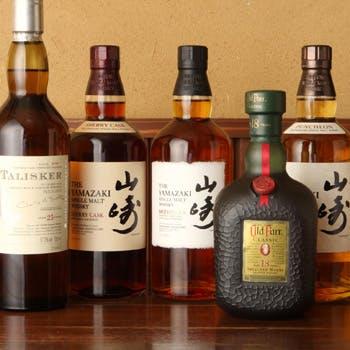 ウィスキーも種類豊富に取り揃えております。