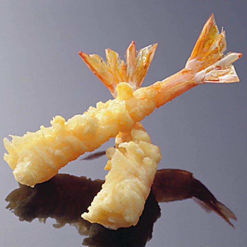 ランチ【Bコース】海老2尾含む天ぷら6種など(リクエスト予約)