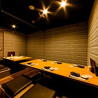 銀座での接待や宴会に最適な完全個室も完備