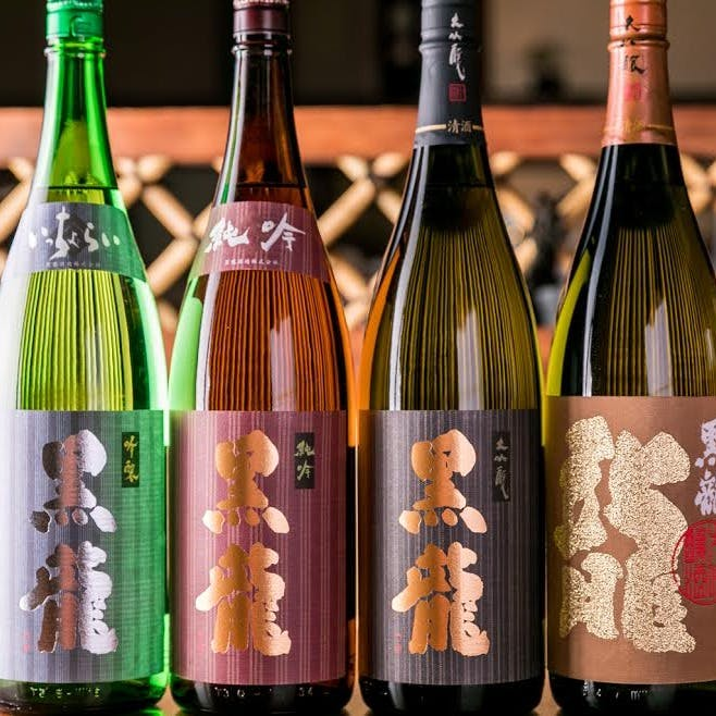 福井の銘酒や、プレミアム酒など日本酒も多数ご用意