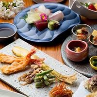 極上の天ぷらをメインに厳選食材を使用した充実のコース、相性の良いお酒とともに