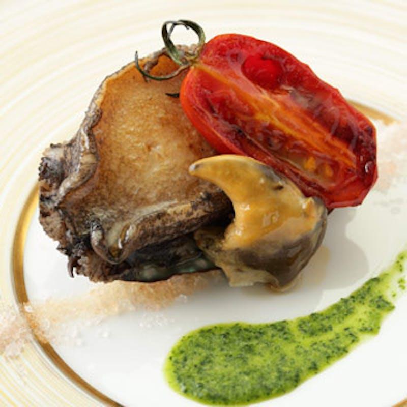 【国産牛サーロインステーキと蝦夷鮑 堪能ランチ】旬の焼き野菜など全7品