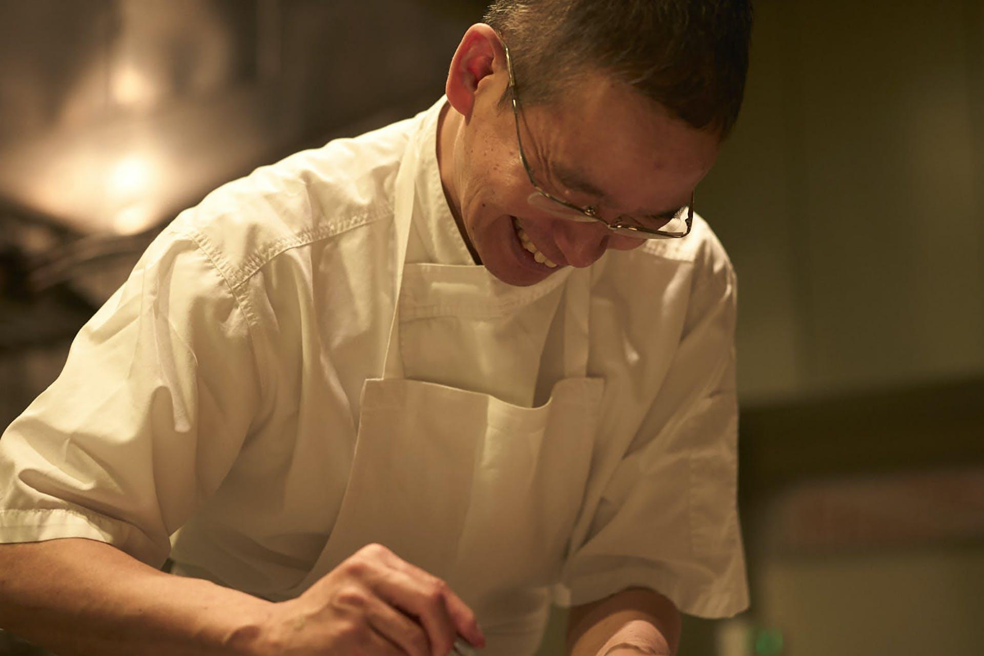 中田シェフがおすすめする季節の旬の食材を使用した一皿
