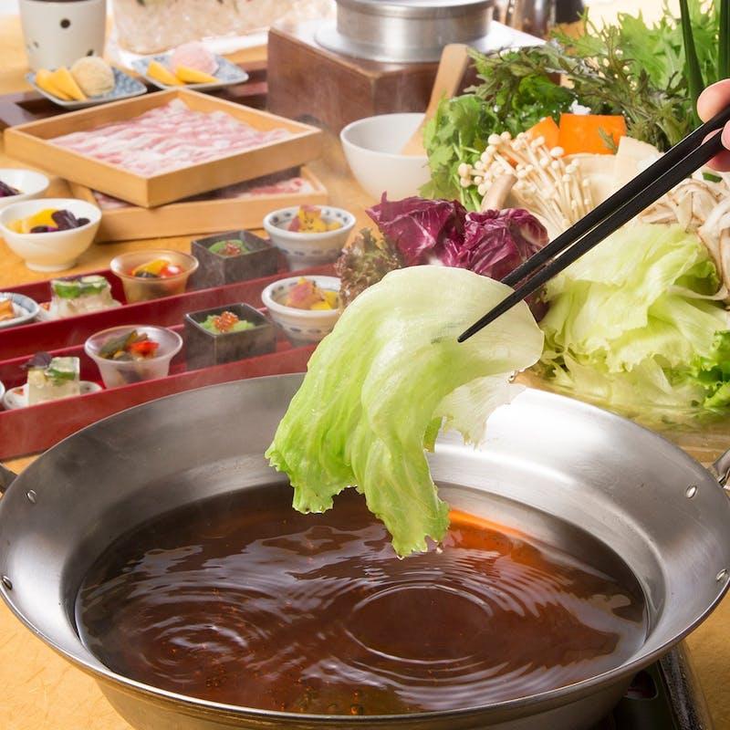 【平日限定】食べ放題プラン+2時間飲み放題(お野菜しゃぶしゃぶと4種類の豚肉と牛肉)
