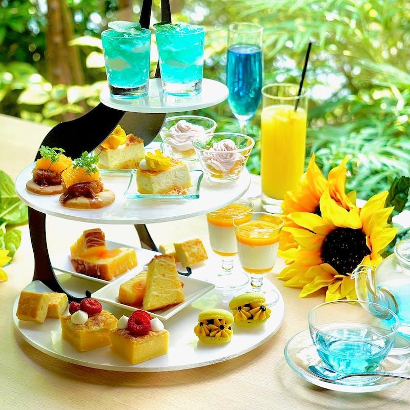向日葵×夏空 afternoon tea+2ドリンク+温製1品+クレープシュゼット