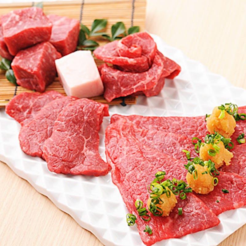 【薄切りサーロイン焼きすきコース】特選部位3種盛合せ・特製冷麺など全13品+1ドリンク