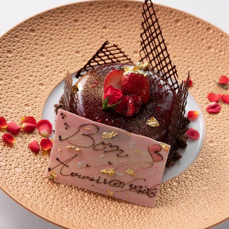【MENU DEGUSTATION】 Wメインの全8品+乾杯シャンパーニュ+ホールケーキ(個室確約・記念日)