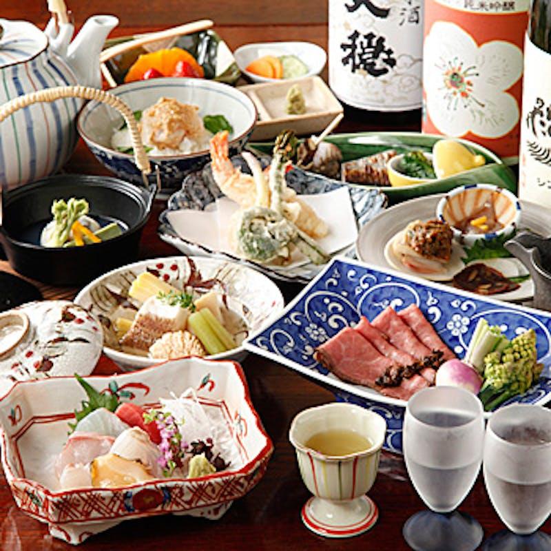 【上コース】和牛サーロイン・煮物・季節の土鍋ご飯等全7品